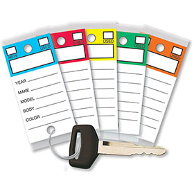 Laminated Key Tags - Top Stripe