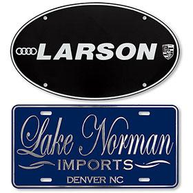 Custom Luxury Raised Letter Plates