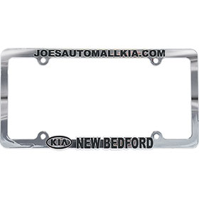 Custom Imprinted Chrome Plated Plastic License Plate Frames - Version 2