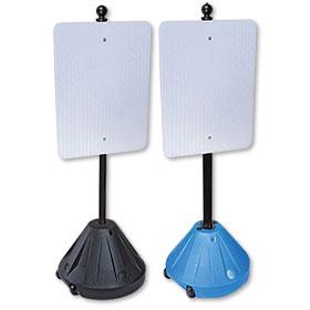 Rolling Sidewalk Sign Holder 48in