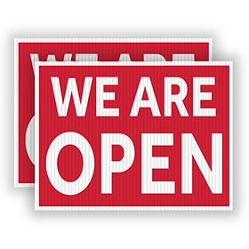 We Are Open Curb Sign 24in x 18in