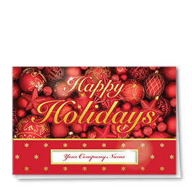 Premium Foil Traditional Christmas Cards - Holiday Ornaments