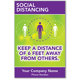 "Keep a Distance of 6 Feet Personalized Poster 13"" x 19"""