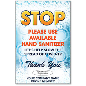 """Slow the Spread of COVID-19 Personalized Poster 13"""" x 19"""""""