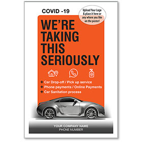 """We're Taking This Seriously COVID-19 Personalized Poster 13"""" x 19"""""""