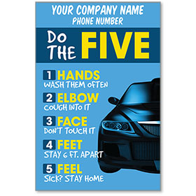 "Do the Five COVID-19 Safety Personalized Poster 13"" x 19"""