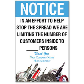 "Limiting the Number of Customers Personalized Poster 13"" x 19"""