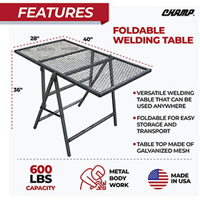 Champ Foldable Welding Table 4039