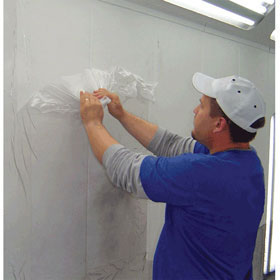 "Self-Adhering Protective Paint Booth Floor Film 36"" X 200'"