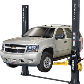 BendPak 10,000-lb. 2-Post Dual-Width Lift with Low-Pro Arms XPR-10-LP