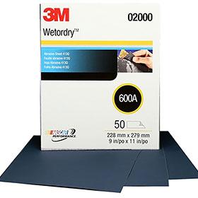 "3M™ Wetordry Tri-M-ite 9"" x 11"" Sanding Sheets, 50/sleeve P220A 02007"