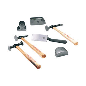 Martin 7-Piece Body & Fender Repair Tool Set with Wood Handles 647K