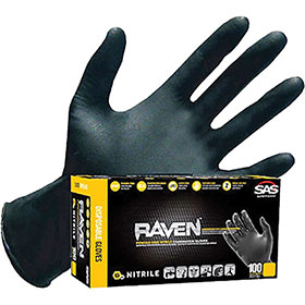 SAS Raven Nitrile Gloves Large 66518