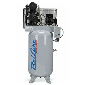 BelAire Iron Series 7.5HP 80-Gallon Two-Stage Electric Single Phase Vertical Compressor 418VLE