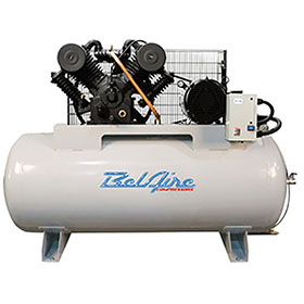 BelAire Iron Series 10HP 120-Gallon Electric Two-Stage Three Phase Elite Horizontal Compressor 6312HE
