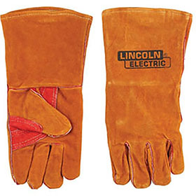 Lincoln Brown Leather Welding Gloves KH642