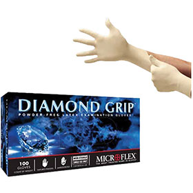 Microflex Diamond Grip Latex Gloves