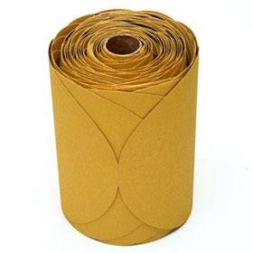 """3M™ Stikit 6"""" Gold Disc Rolls, 125-175 discs/roll"""