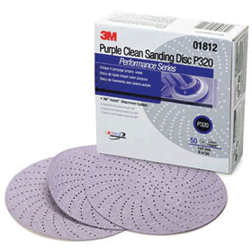 "3M 6"" Hookit Purple Clean Sanding Discs"