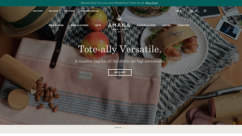 Amana Shops Website