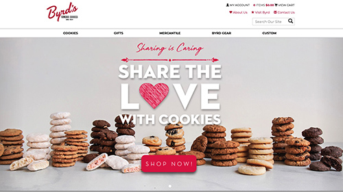 Byrd Cookie Company Website