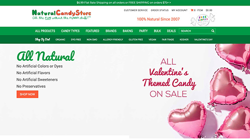 Natural Candy Store Website