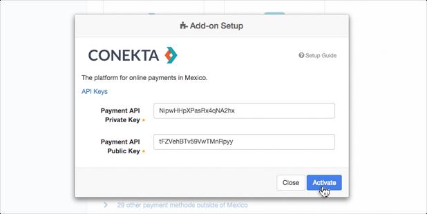 Install Conekta API Keys