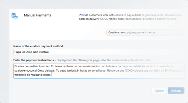Configurando Pagos en OXXO PAY
