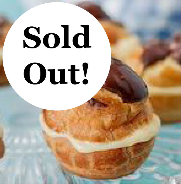 AUG 7 10:30AM: Eclairs and Cream Puffs Workshop - Hands On