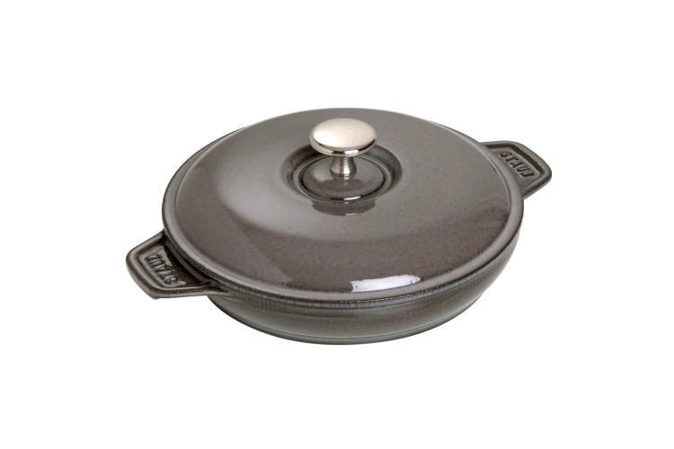 """Staub Cast Iron 7.9"""" Round Covered Baking Dish"""