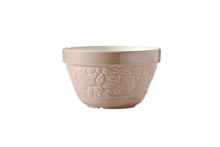 Mason Cash In The Forest 0.95 Quart Owl Embossed All Purpose Bowl Stone