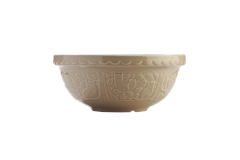 Mason Cash In The Forest 2.85 Quart Owl Embossed Mixing Bowl Stone