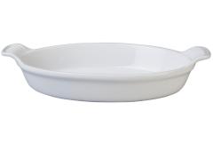 "Le Creuset Stoneware 14"" Heritage Oval Au Gratin White"