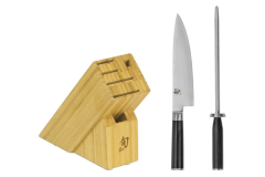 Shun Premier 2-Piece Build A Block Set w/Bonus Honing Steel