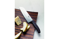 "Victorinox Fibrox Pro 7"" Hollow Edge Santoku Knife"