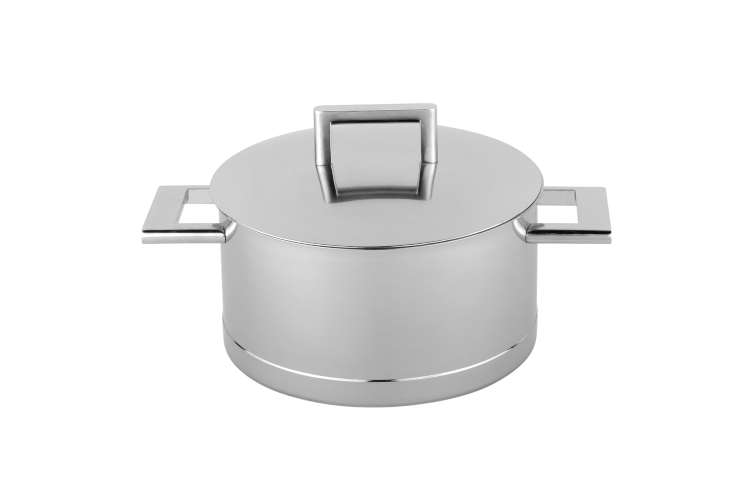 Demeyere John Pawson Stainless Steel Dutch Ovens with Lid