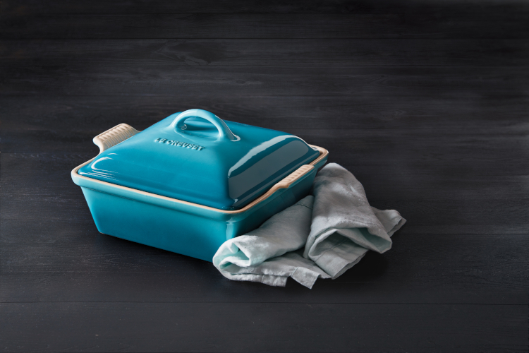 Le Creuset Stoneware Heritage Square Covered Casserole