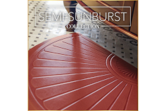 WellnessMats Semi-Sunburst Collection Anti-Fatigue Mats