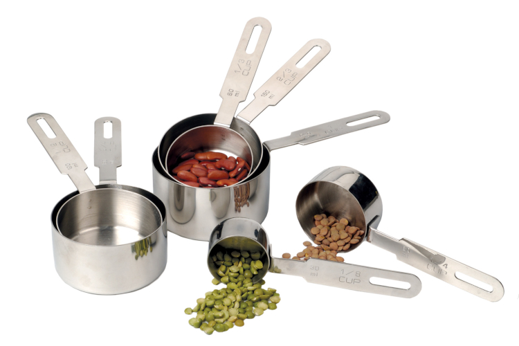RSVP Endurance Stainless Steel 7-Piece Measuring Cups