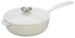 Le Creuset Signature 2.25 Quart Cast Iron Saucier White