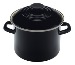 Le Creuset Enamel on Steel 6 Quart Stockpot Black Onyx
