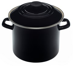 Le Creuset Enamel on Steel 8 Quart Stock Pot Black Onyx