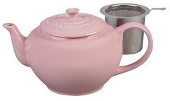 Le Creuset Stoneware 1 Quart Teapot with Stainless Steel Infuser Hibiscus