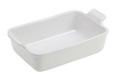 "Le Creuset Stoneware Heritage 7"" x 5""  Rectangular Dish White"