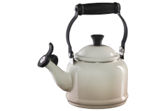 Le Creuset Enamel on Steel Demi Tea Kettle Meringue