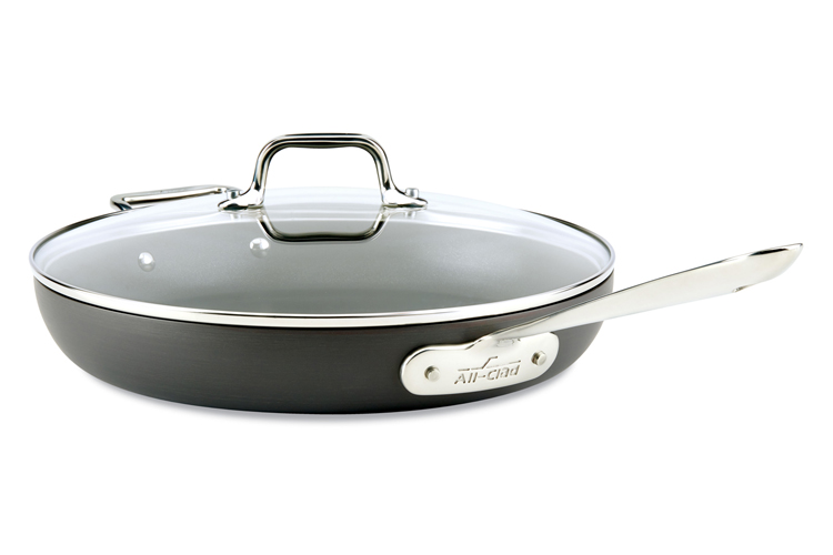 "All-Clad HA1 Nonstick 12"" Fry Pan with Lid"
