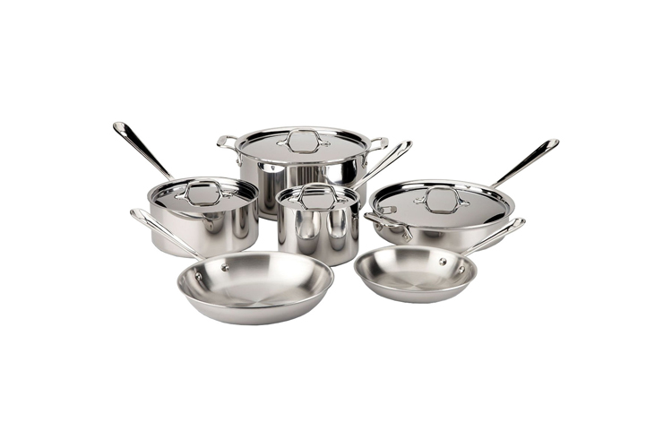 All-Clad d3 Stainless Set 10-Piece Cookware Set