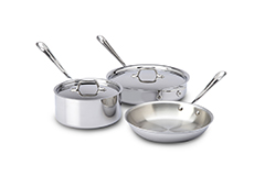 All-Clad d3 Stainless 5-Piece Starter Cookware Set
