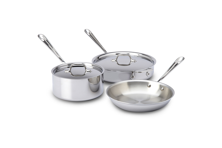 All-Clad d3 Stainless 5-Piece Starter Cookware Set