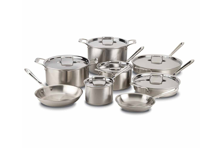 All-Clad d5 Brushed Stainless 14-Piece Cookware Set